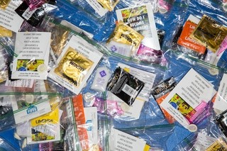 Free condoms are offered through Housing Works, a health outreach program that sponsored the kiki.