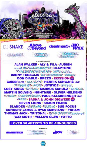 Electric Zoo Is Bringing DJ Snake, Above & Beyond, Danny Tenaglia, and More to Randall's Island