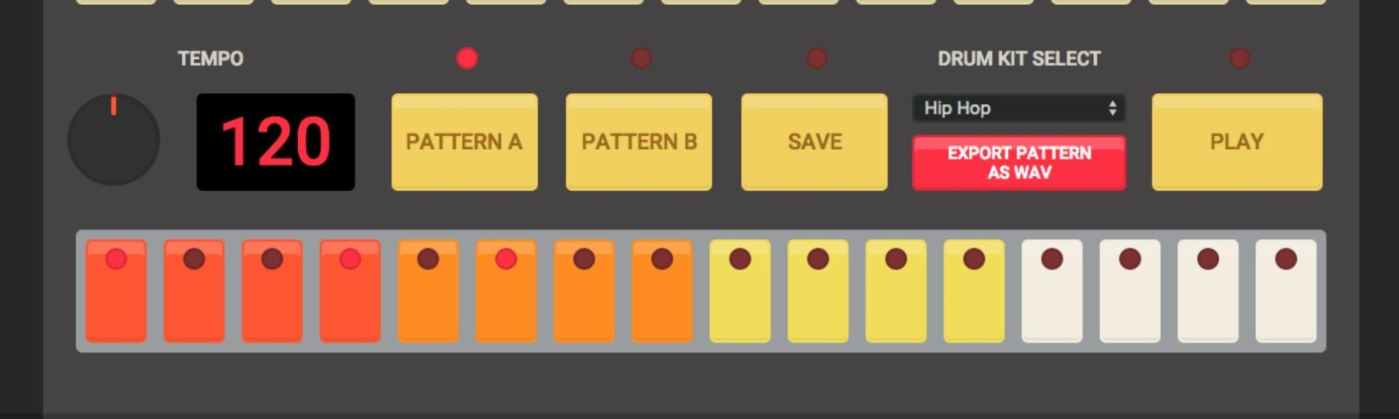 thanks internet there 39 s now an online emulator of the tr 808 drum machine thump. Black Bedroom Furniture Sets. Home Design Ideas