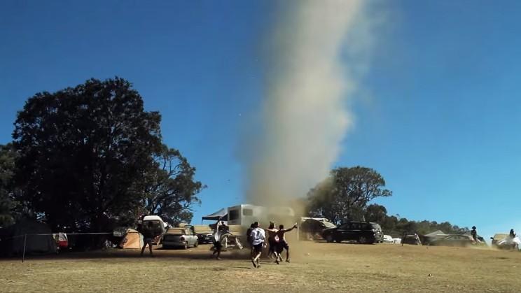 Footage Shows an Actual Real Life Tornado Tearing Through an Australian Dance Festival