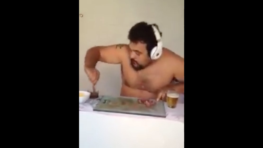 Five Very Urgent Questions We Need Answering After Watching a Video of a Man DJing with Food