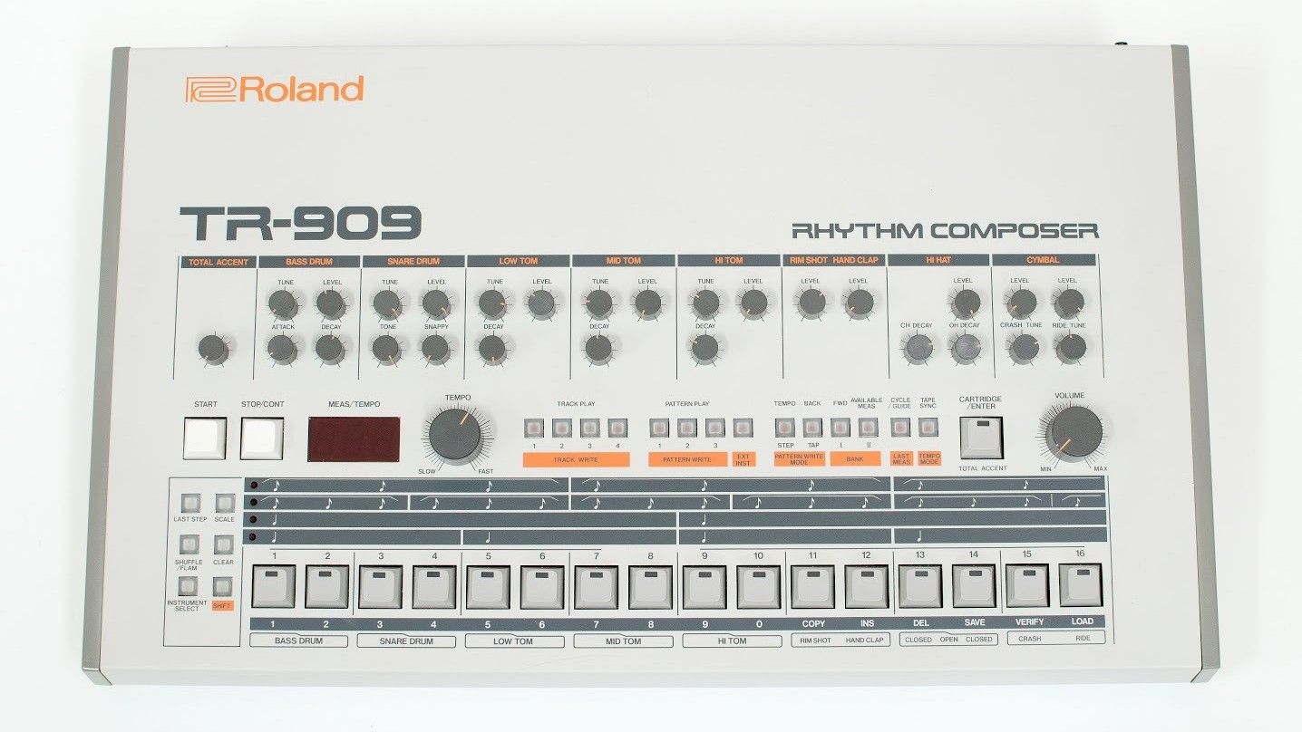 """Descarga gratis """"Mini909"""", una réplica virtual de la legendaria TR-909 de Roland"""
