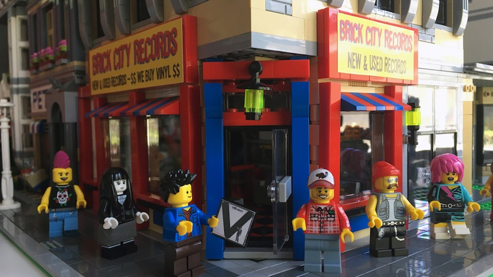 Check Out These Amazing Photos of a Record Store Made Out of Lego