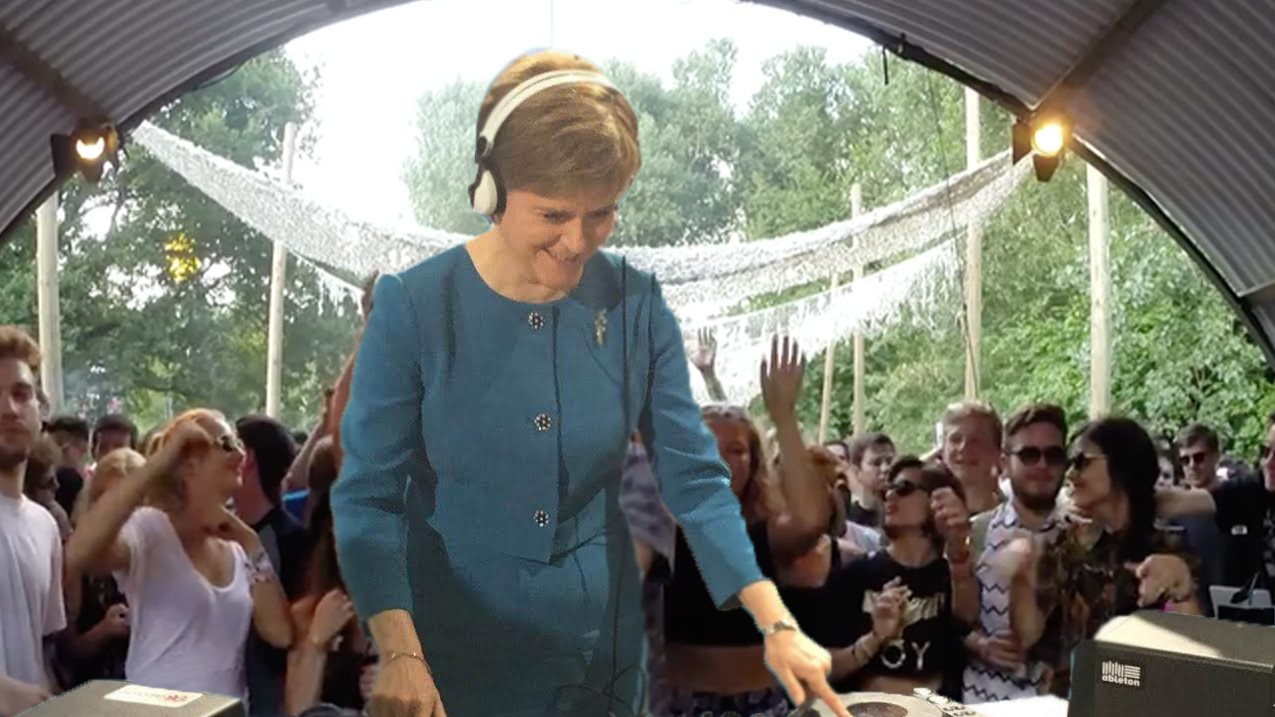 Images Have Emerged From Nicola Sturgeon's Debut Boiler Room Set