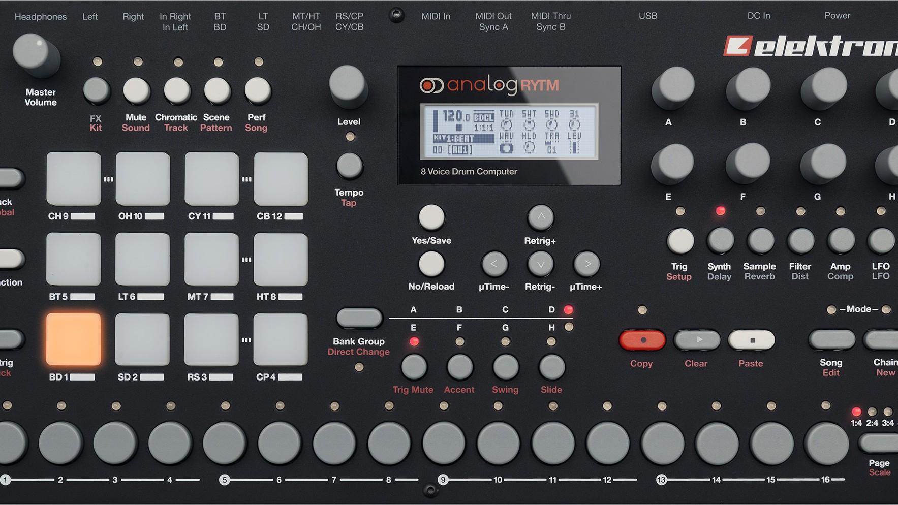 Una caja de ritmos con un sonido realmente análogo