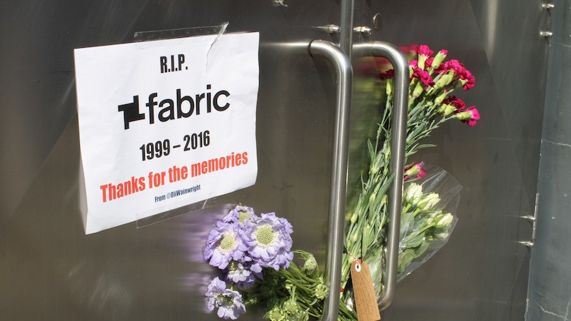 People Have Begun to Leave Flowers and Tributes Outside the Doors of Fabric