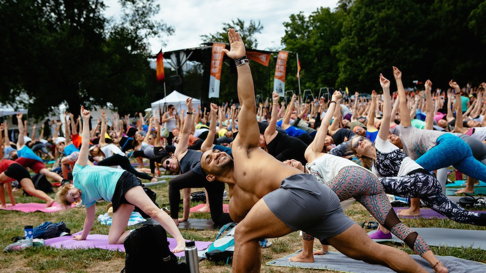 Can Doing Yoga at Music Festivals Change How We Think About Partying?