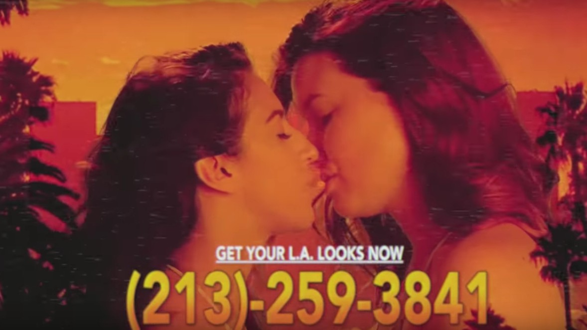 "HEALTH Dial Up ""L.A. Looks"" in a Sleazy, Late Night Public Access TV Commercial"